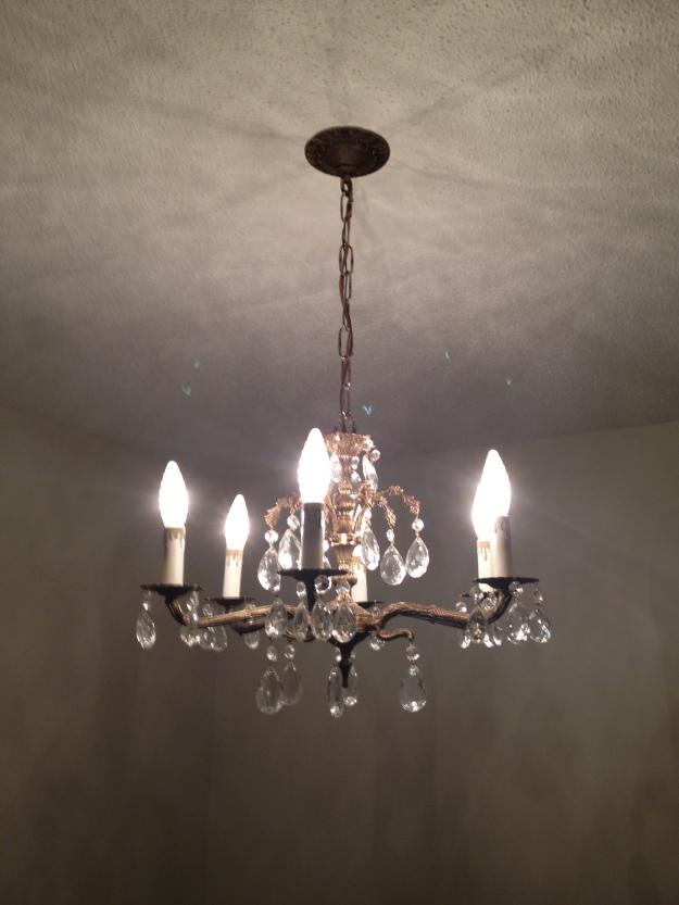 Restored metal light fixture.