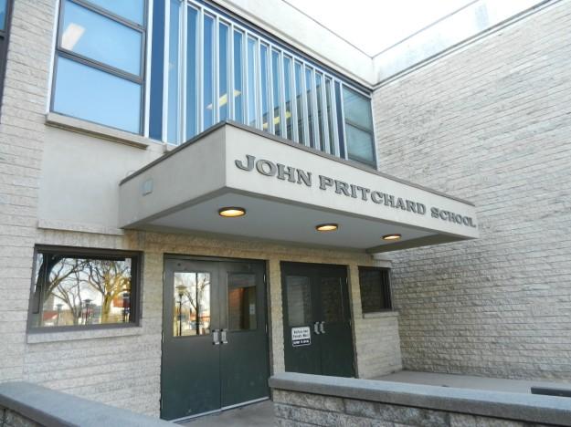 John Pritchard School front doors.