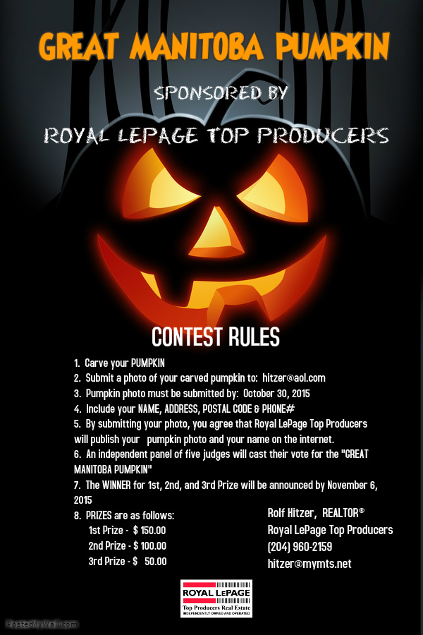 Great Manitoba Pumpkin contest rules.
