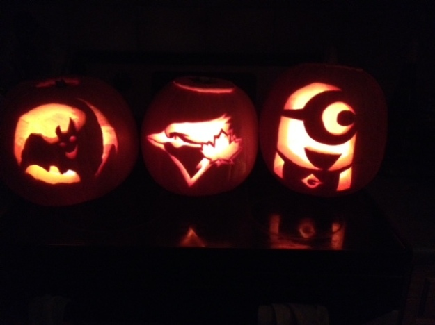 Finishing in 9th place is this trio of pumpkins submitted by Meghan, Madison and Myah St. Laurent.