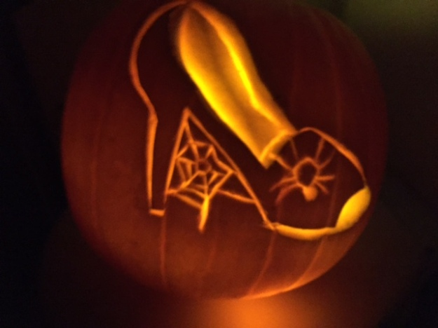 In the 6th position, this carved pumpkin by Sheryl Holding.
