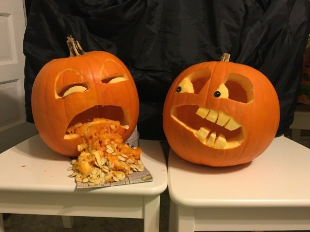 Coming in at number 8 is this pair of pumpkins submitted by Adrian Vlaming and Jenn Bronk.