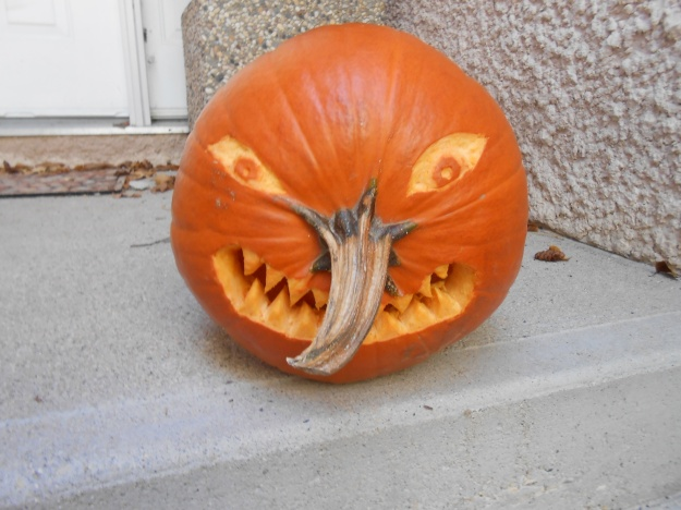 Finishing in the 4th position is this pumpkin carving by Lloyd Hiebert.