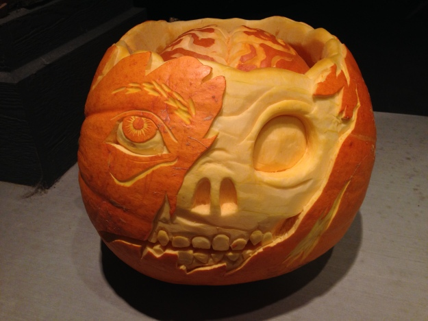 Capturing the second best pumpkin overall in the 2015 Great Manitoba pumpkin search is this submission by Brad Bamford.