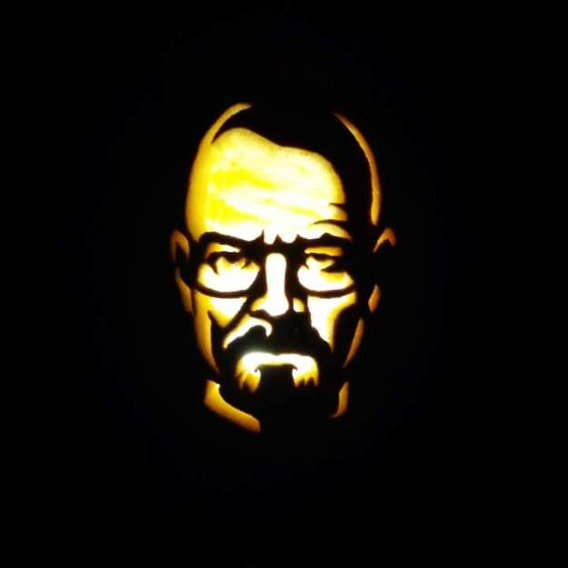 Also tied for 3rd place and winner of the $50.00 cash prize is this carved pumpkin submission by Leah Friesen.