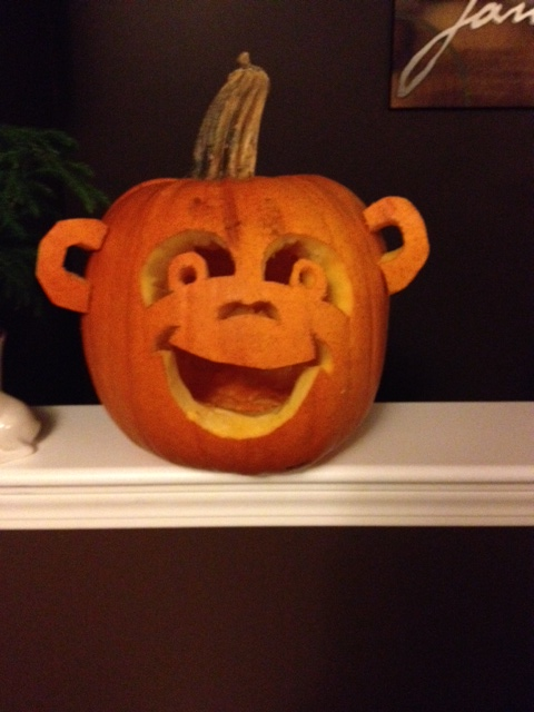 At pumpkin carving number 5, by Layne Theriault.