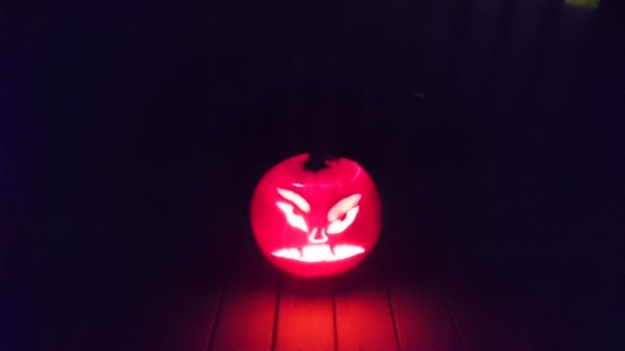 Finishing 10th overall is this carved pumpkin from Mark Dick.
