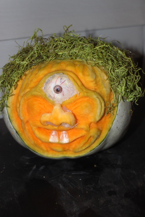 Congratulations Jo-Anne Anderson for your carved pumpkin is this year's GREAT MANITOBA PUMPKIN! Jo-Anne will also receive $150.00 from Royal LePage Top Producers for her first place finish with the winning carved pumpkin.