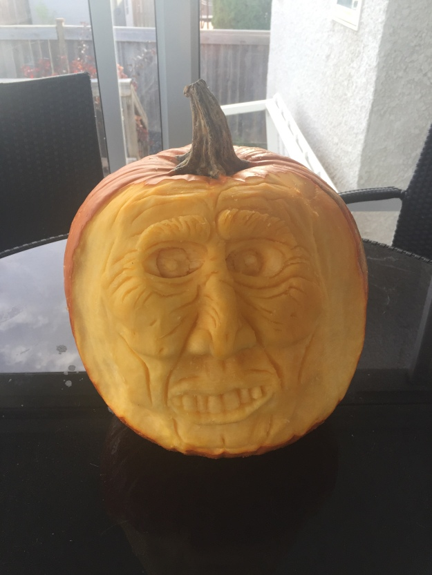 This carved pumpkin submitted by Cindy King took the 5th place overall in the Great Manitoba Pumpkin search.