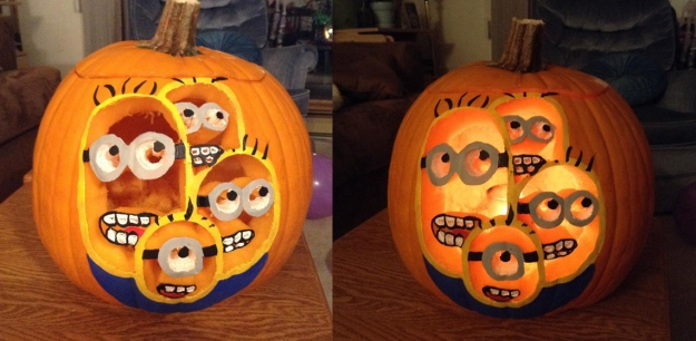 This carved pumpkin submitted by Michelle Roy finished in 8th place.